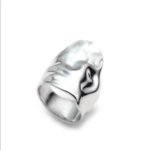 New Alexis Bittar Crumpled Silver Ring size 7